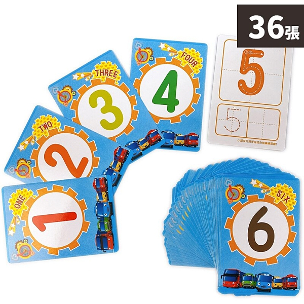 TAYO 數字123 認知圖卡 NOT2208B /一盒36張入(定150) TAYO小巴士 教材教具圖卡 正版授權