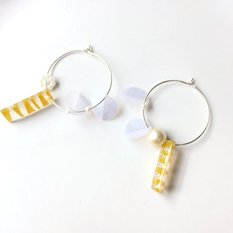 檸檬磅蛋糕夾式/針式耳環
