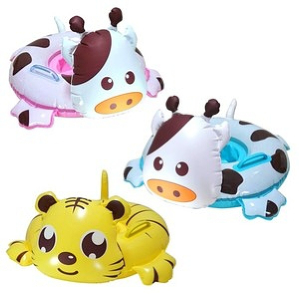 【WEKO】24吋兒童可愛動物座圈(WE-2403)粉紅牛