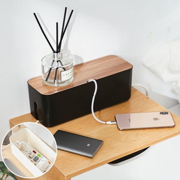 樂嫚妮 插座盒/集線盒子/電線收納盒/線材收納/推薦-S號-(2色)黑