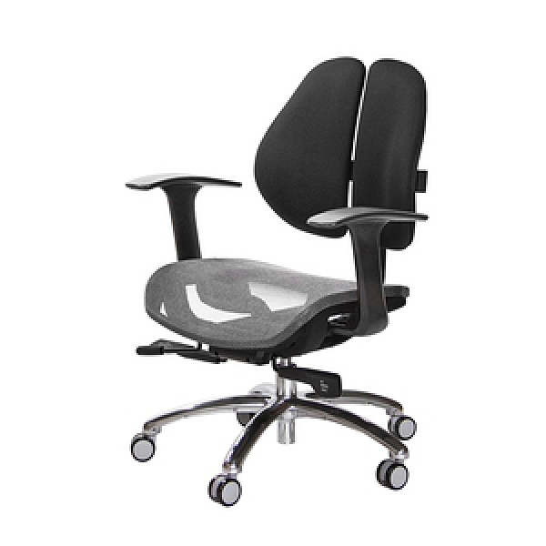 GXG 低雙背網座 工學椅 (鋁腳/T字扶手)  TW-2805LU#訂購備註顏色