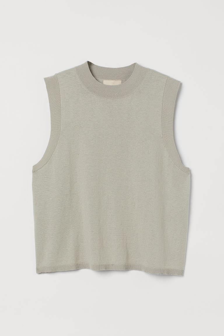 H & M - 喀什米爾羊毛混紡背心 - 黃色