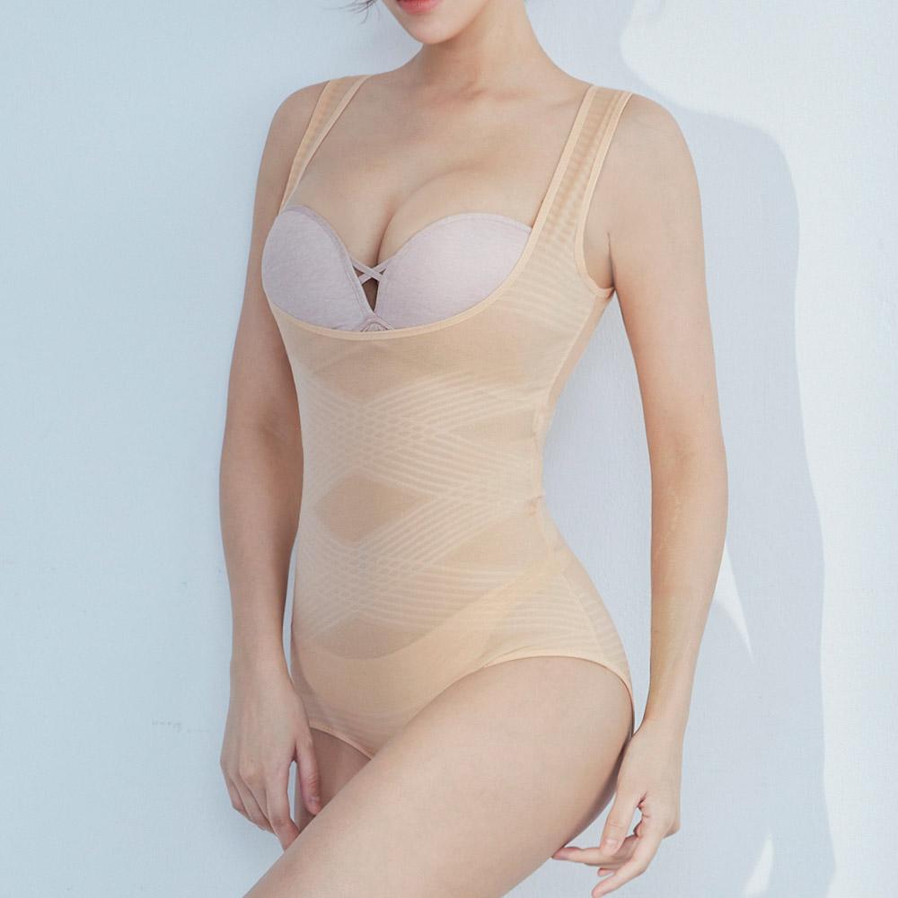 曲線の魔手 連身提臀後脫式塑身衣 膚 【輕塑型】