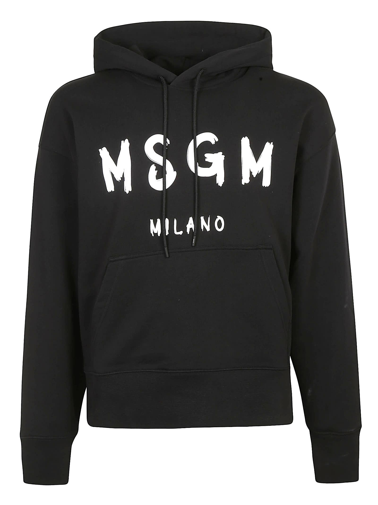 MSGM Milano Logo Hoodie