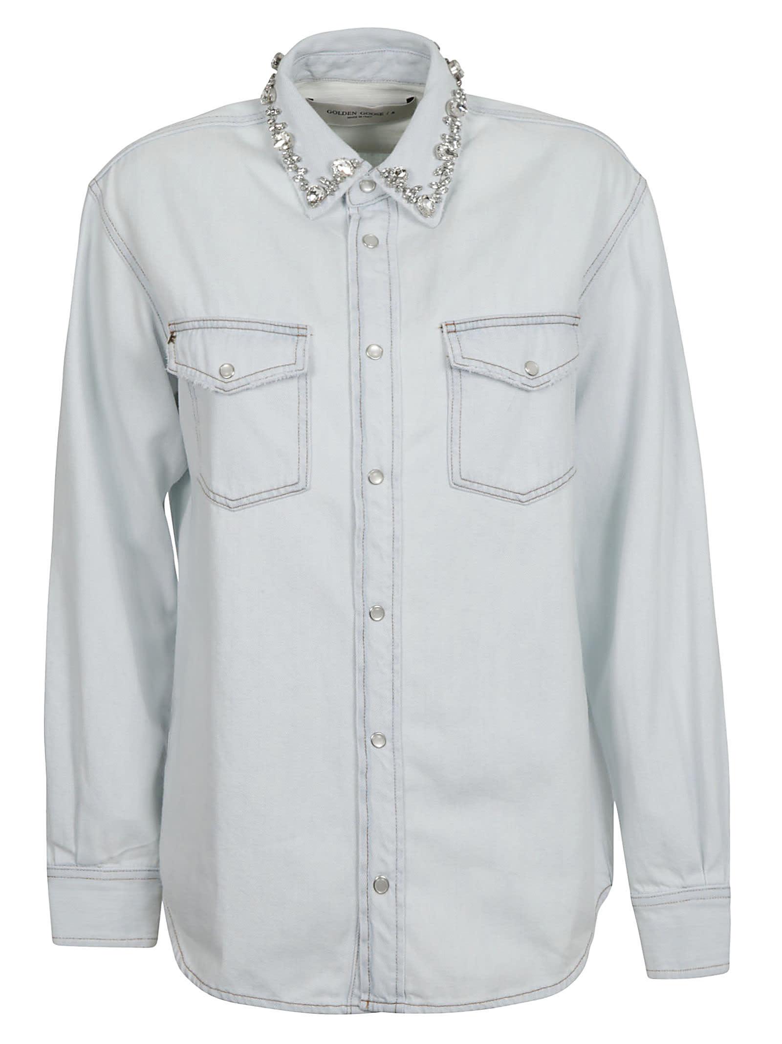Golden Goose Becca Boyfriend Bleached Shirt