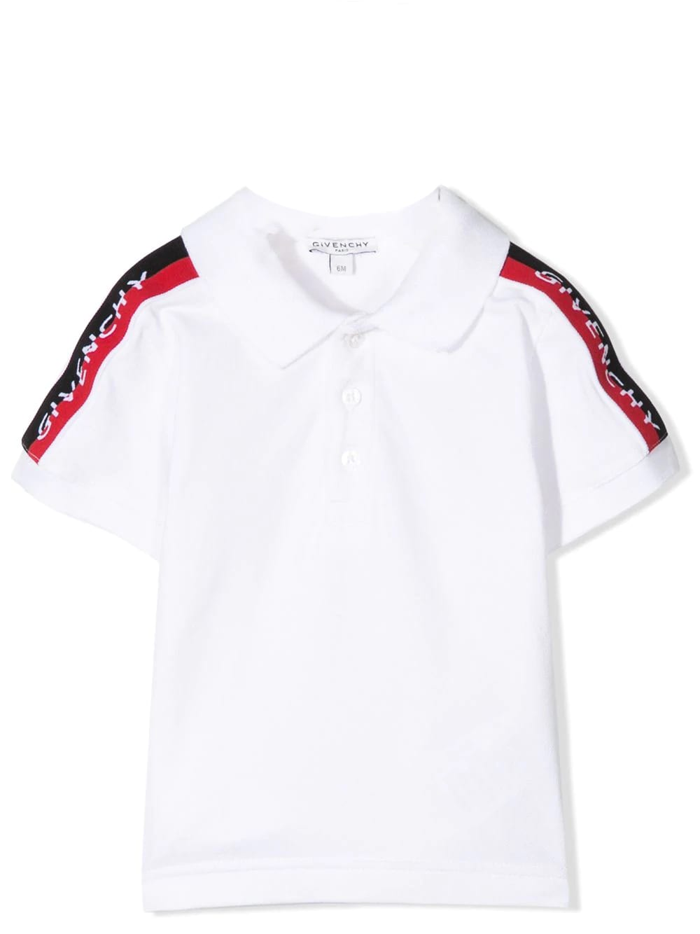 Givenchy Polo Shirt With Bands On The Sleeves