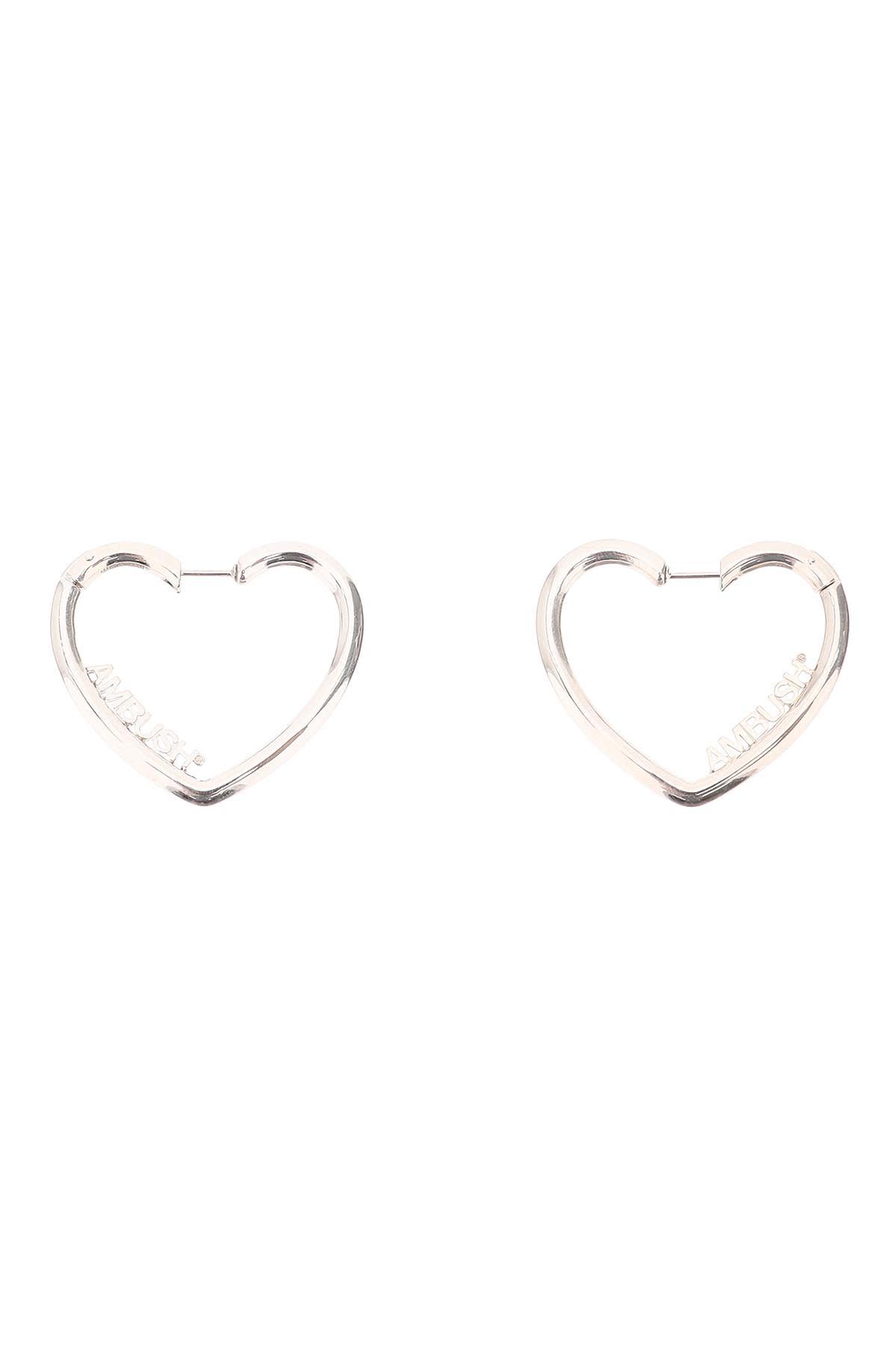 AMBUSH Ladies Small Heart Hoop Earrings