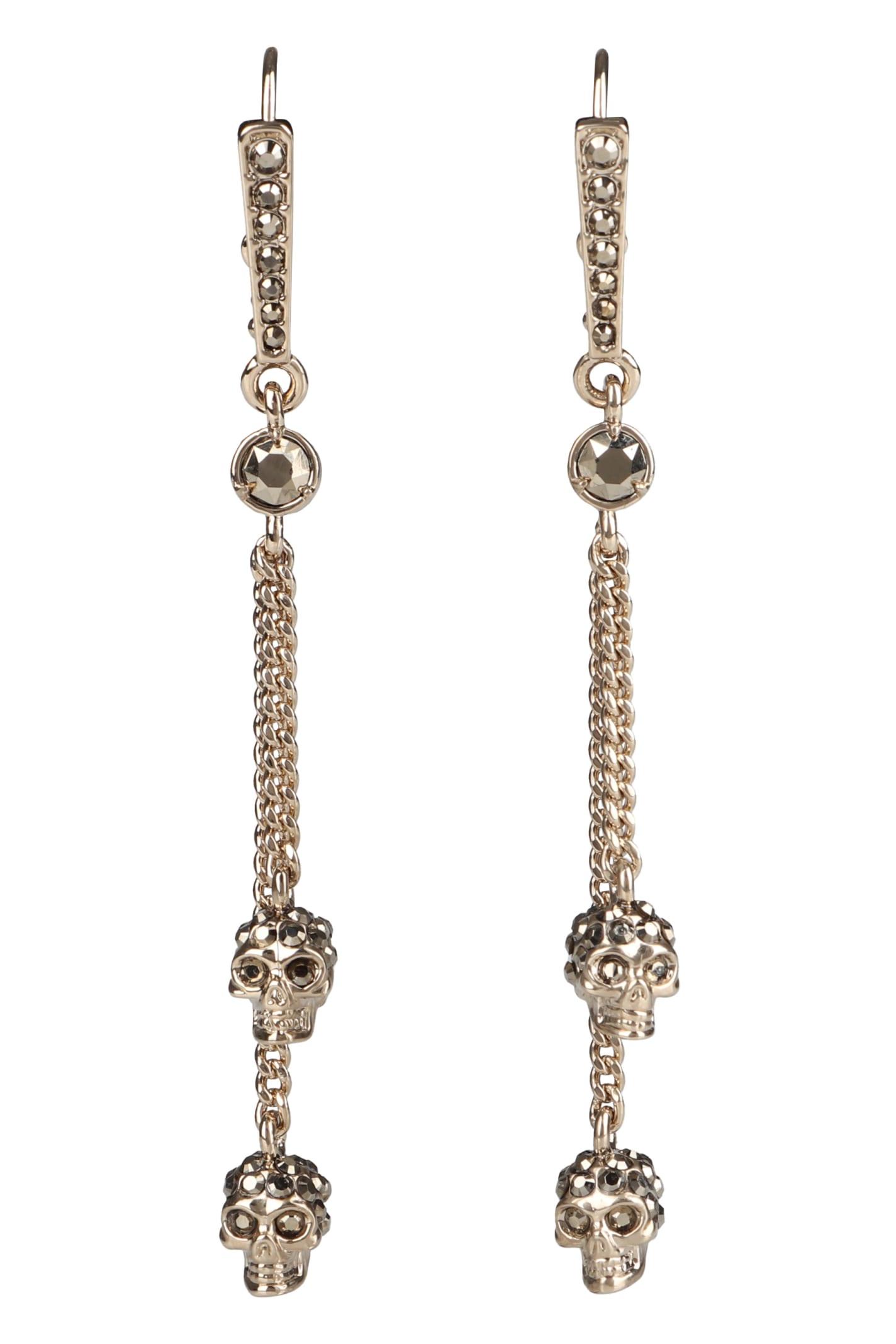 Alexander McQueen Skull Pendant Earrings
