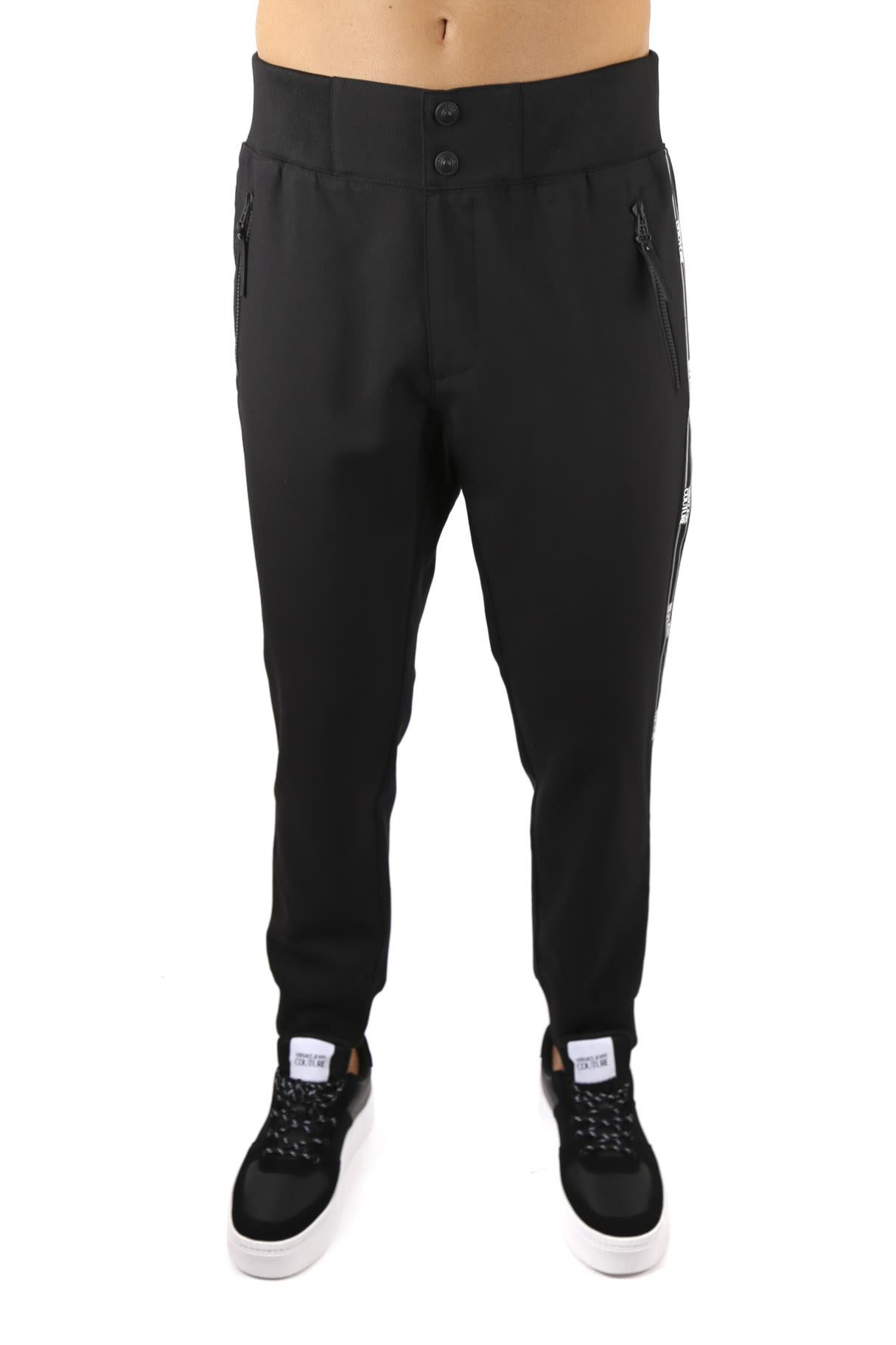 Versace Jeans Couture Black Sport Logo Pants