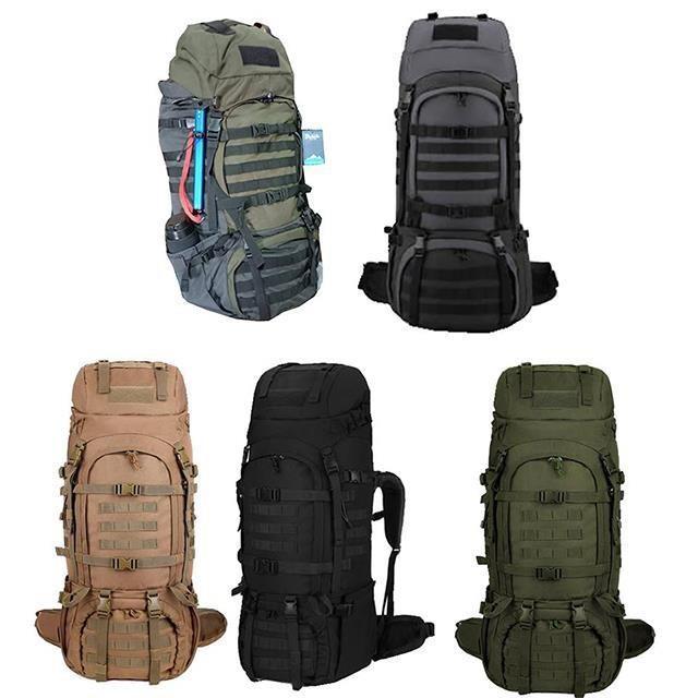後背包超大容量80L附雨罩出水孔胸前釦+安全哨高單防水尼龍布可放A4資夾