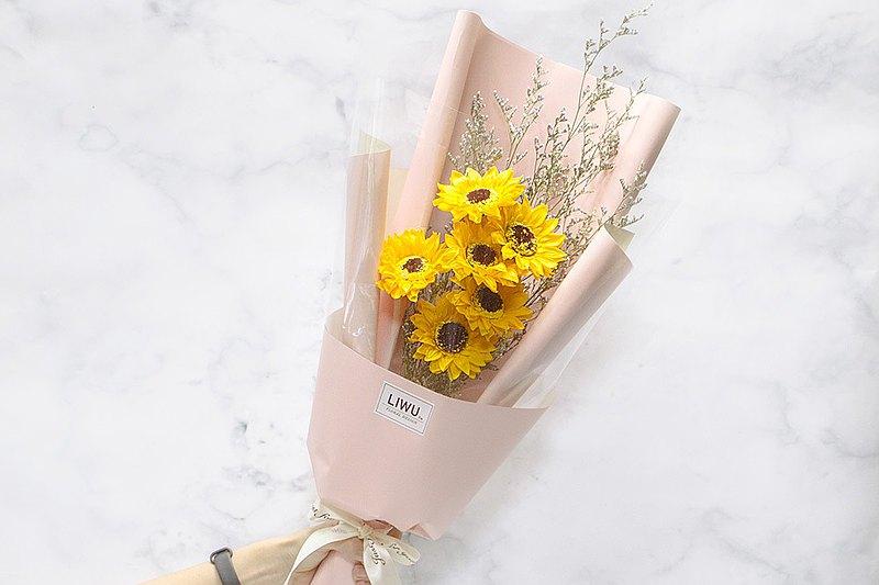 花語順心如意 6朵向日葵花束 乾燥花花束 畢業花束 父親節花束