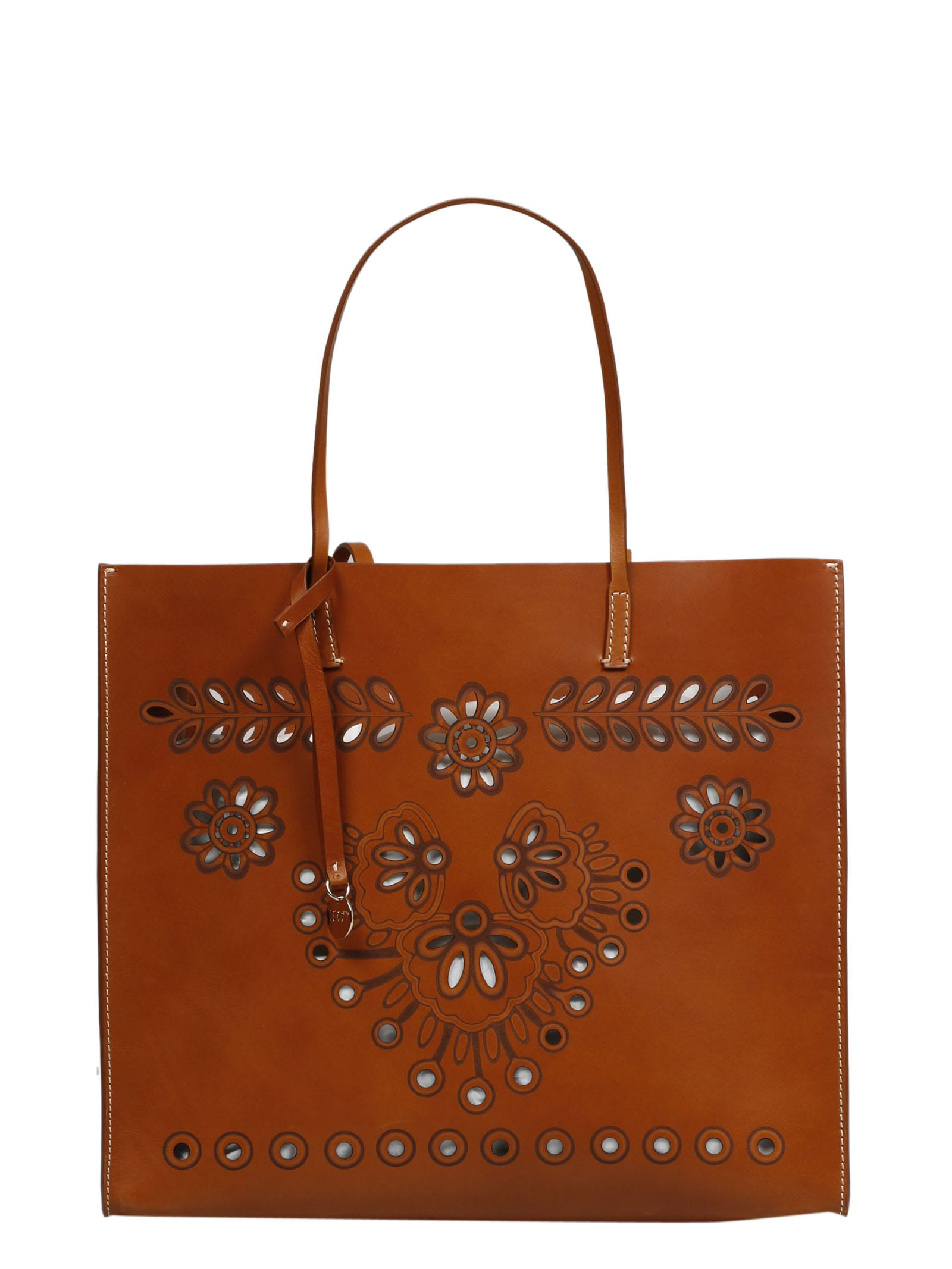 Carved Leather Bag RED Valentino