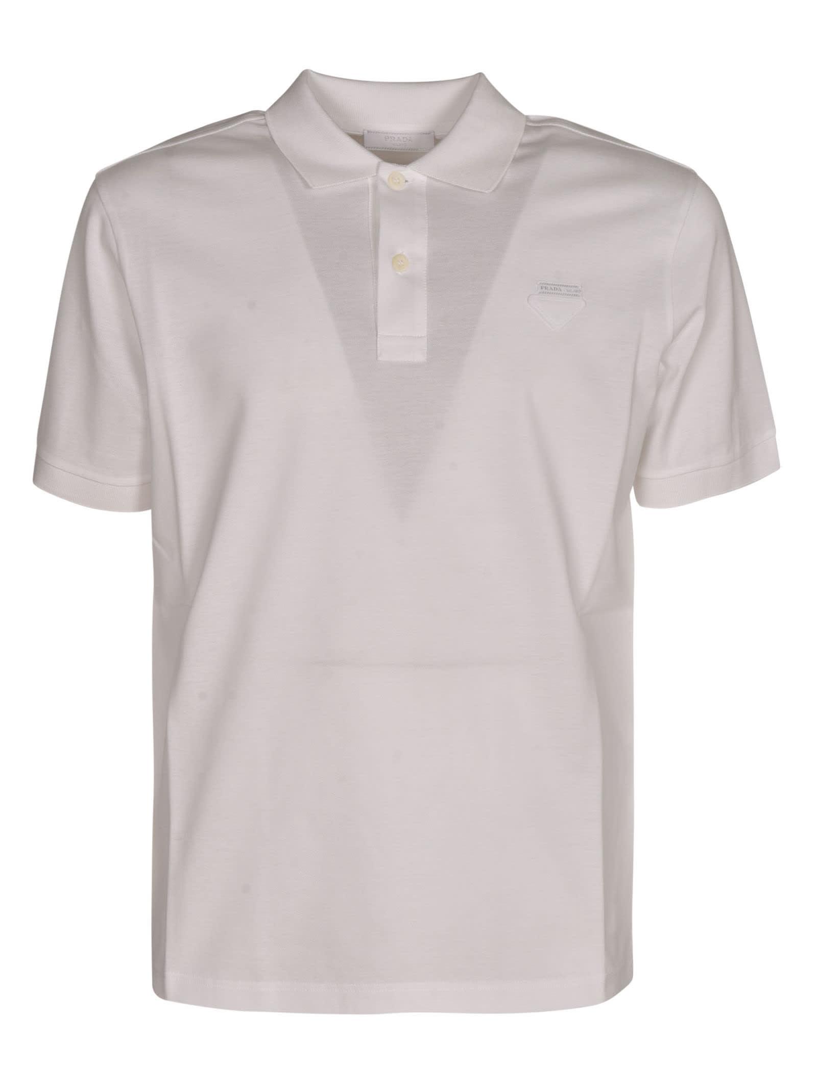Prada Regular Logo Patched Polo Shirt
