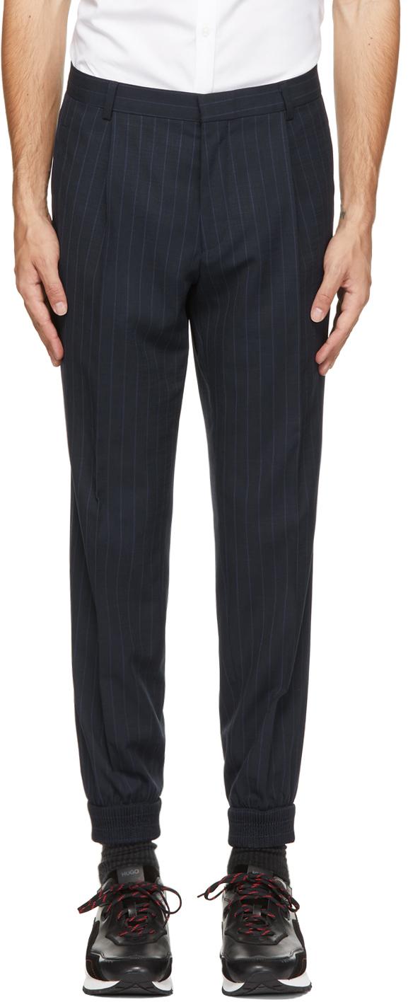 HUGO 海军蓝 Fento212 长裤