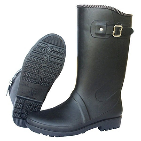 台製一體成型高筒時尚霧面雨鞋 雨靴 防水靴 (晴雨兩用)23