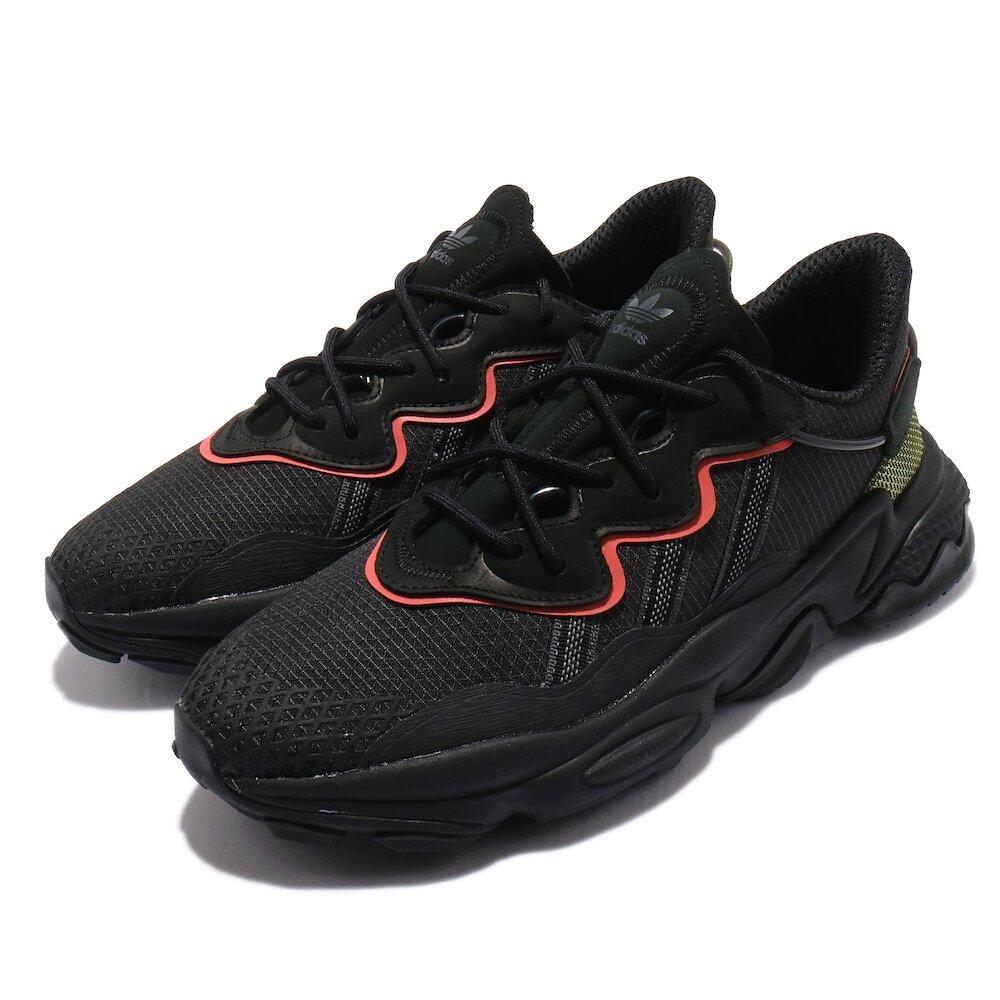ADIDAS 休閒鞋 Ozweego TR 運動 男女鞋 海外限定 舒適 避震 簡約 情侶穿搭 黑 紅 [FV1805]