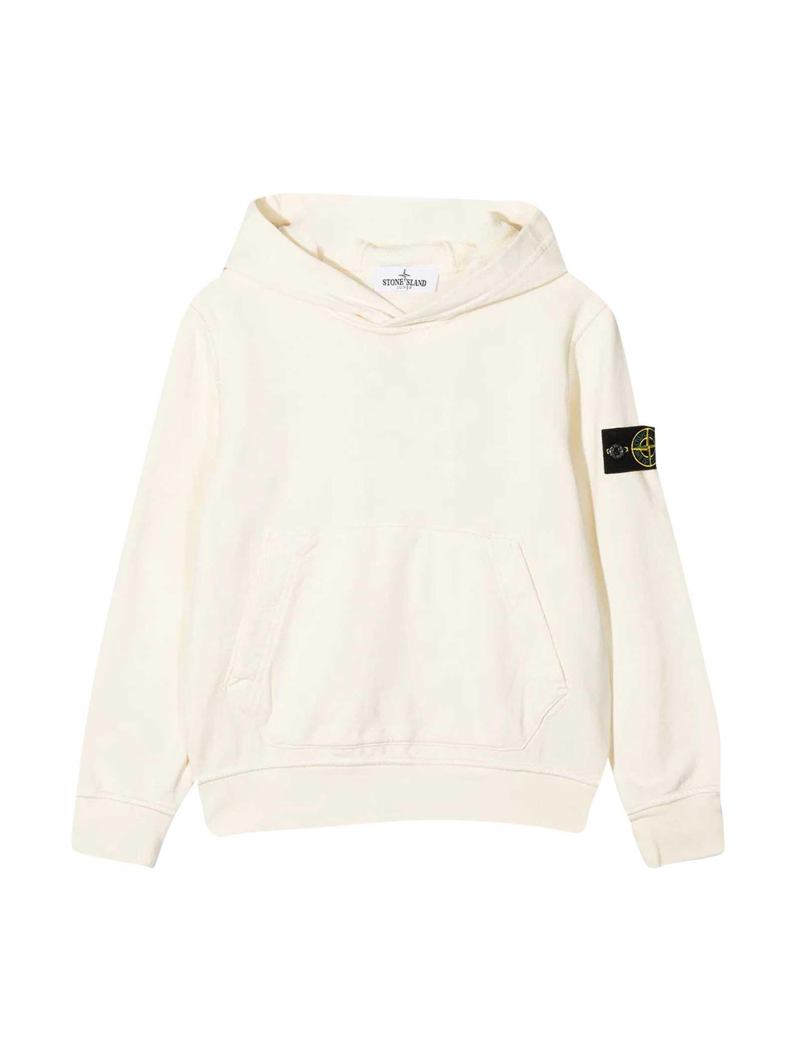 Stone Island Junior Beige Sweatshirt