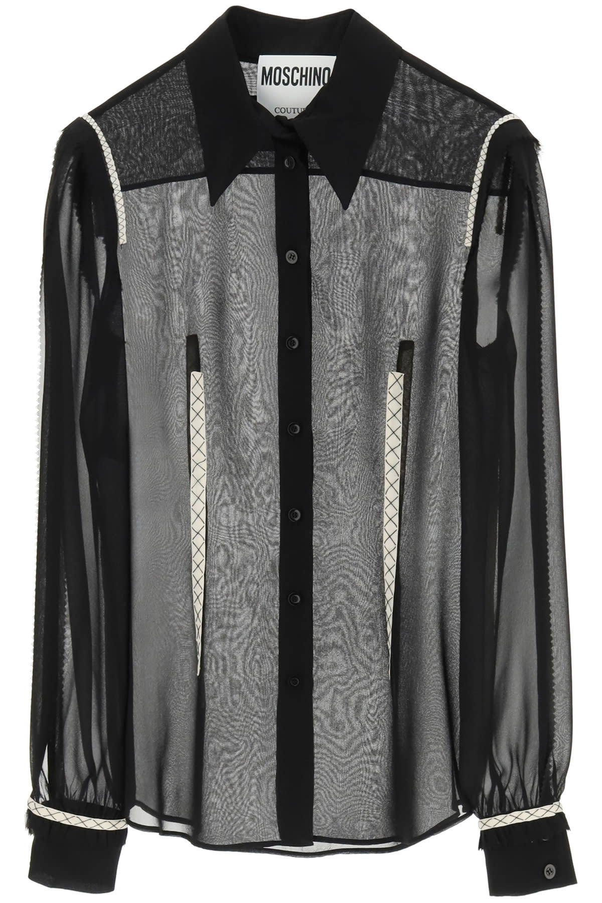 Moschino Georgette Silk Shirt With Embroideries