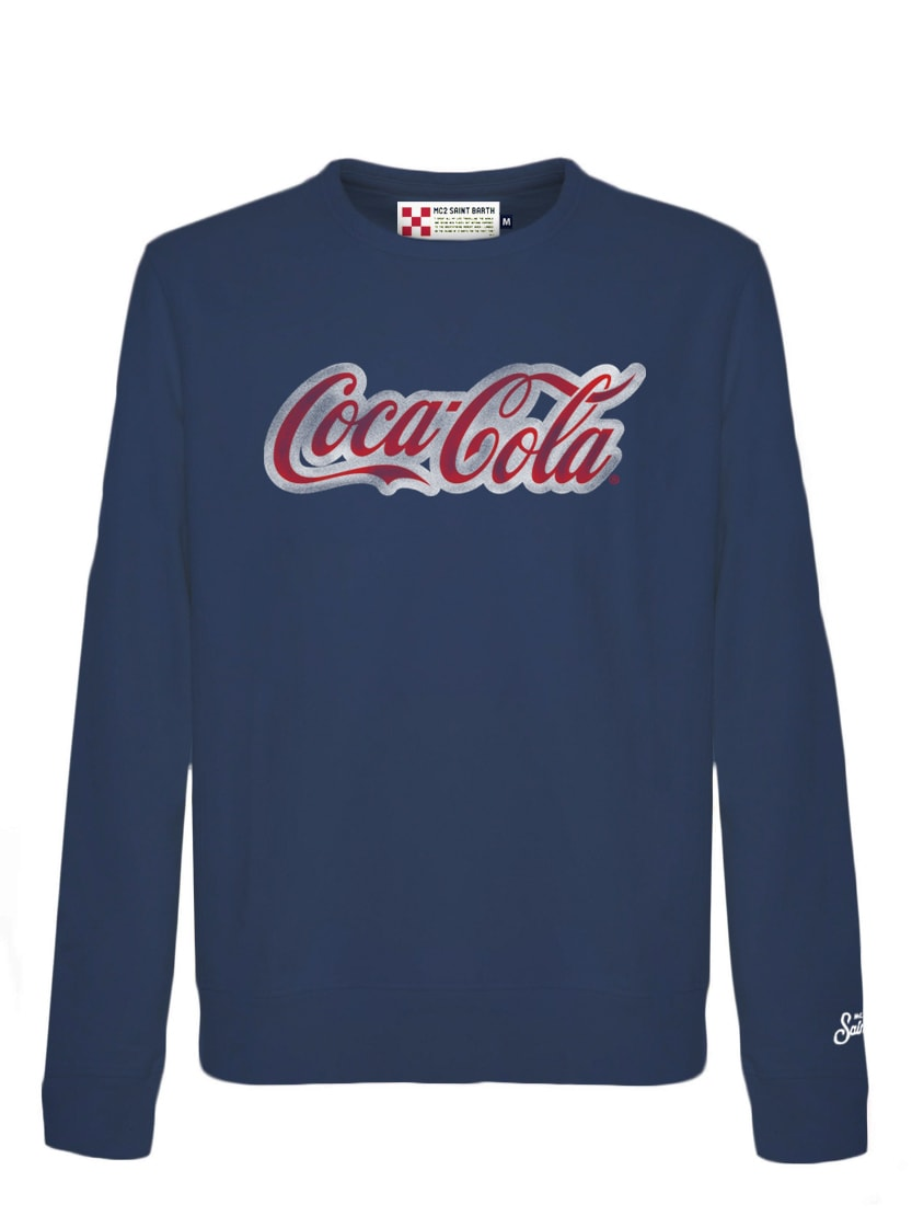 MC2 Saint Barth Blue Sweatshirt Cola Logo