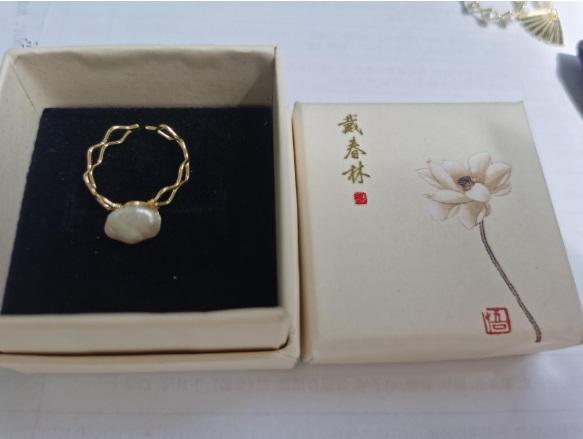 天然太湖珍珠戒指1