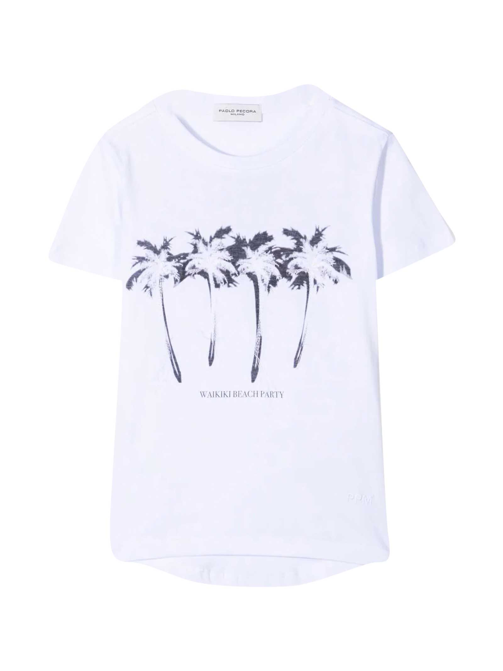 Paolo Pecora T-shirt With Embroidery