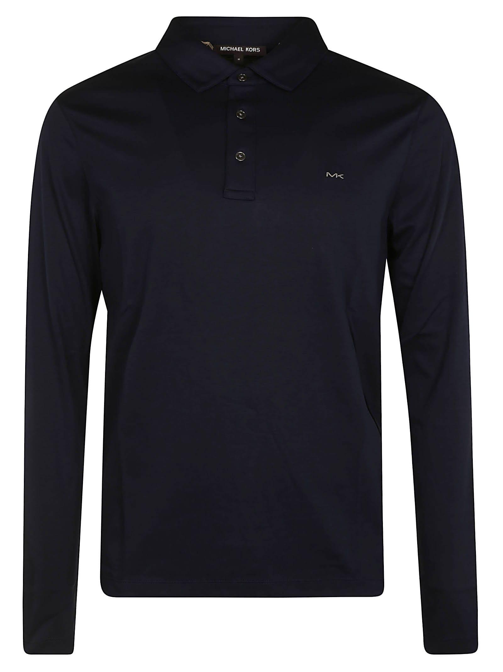 Michael Kors Chest Logo Longsleeved Polo Shirt