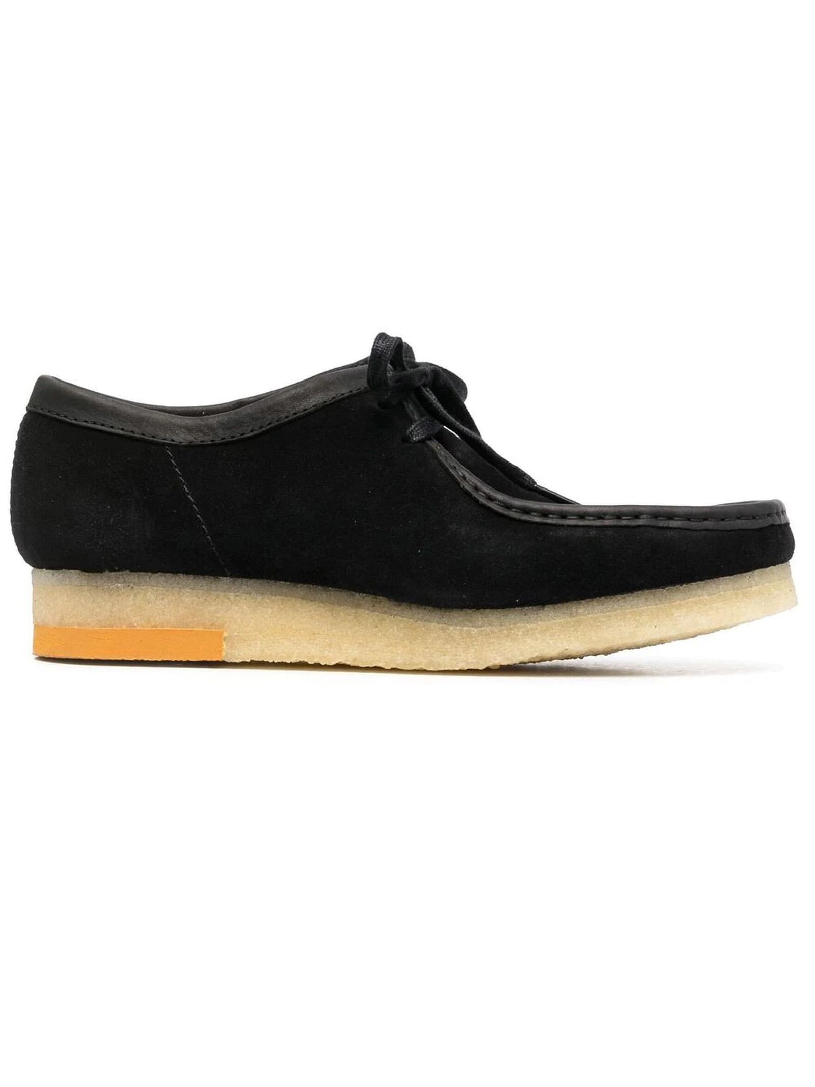 Clarks Black Suede Wallabee Lace-up Shoes