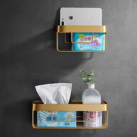 限時胡桃木衛生間紙巾盒免打孔廁紙置物架壁掛式北歐抽紙盒捲紙架1