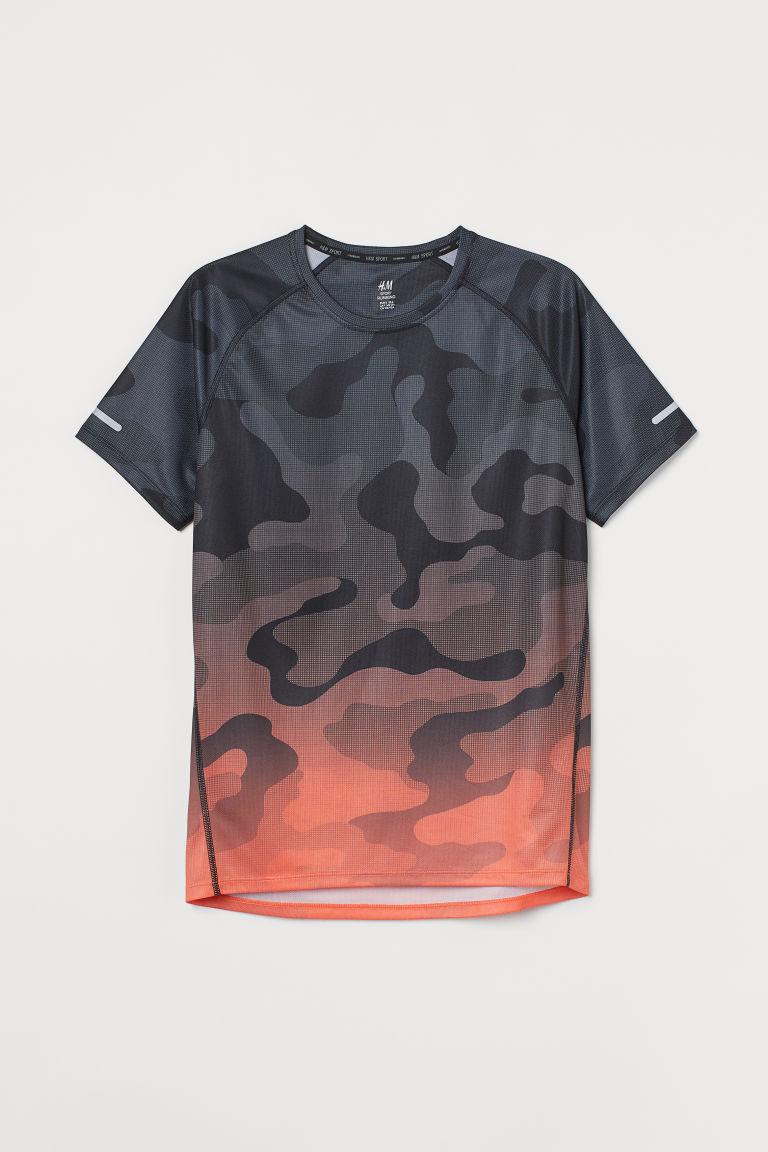 H & M - 標準剪裁跑步上衣 - 橙色