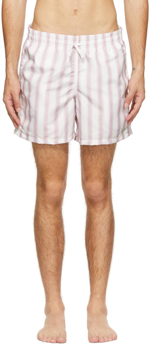Bather 粉色 & 白色条纹泳裤