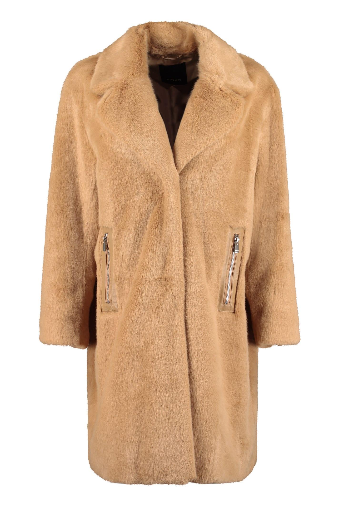 Pinko Evaristo Faux Fur Coat