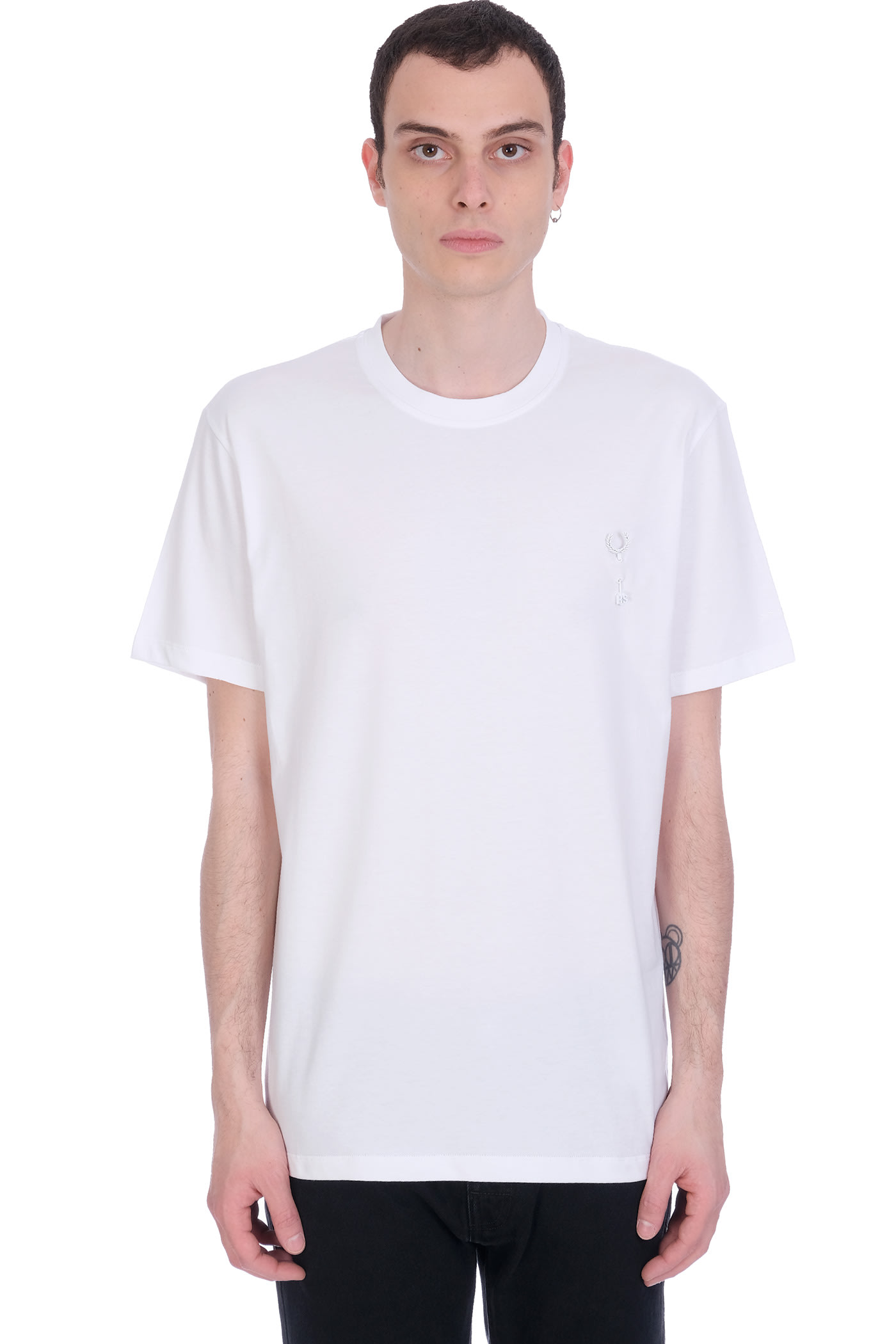 Fred Perry by Raf Simons T-shirt In White Cotton
