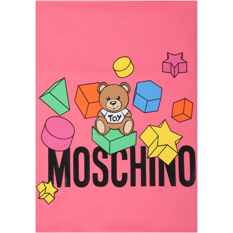 Moschino Fuchsia Blanket For Babygirl With Teddy Bears