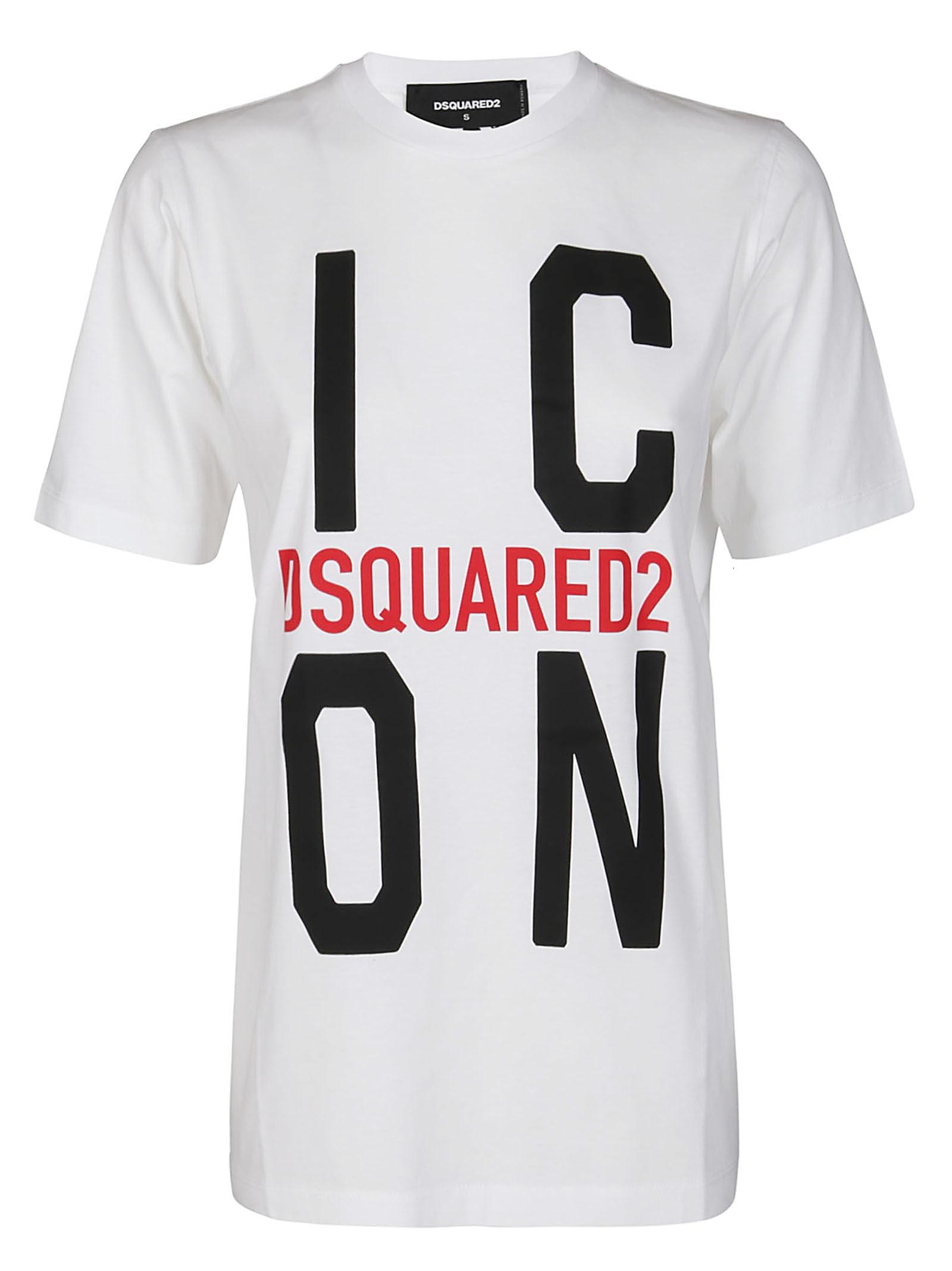 Dsquared2 White Cotton Icon T-shirt