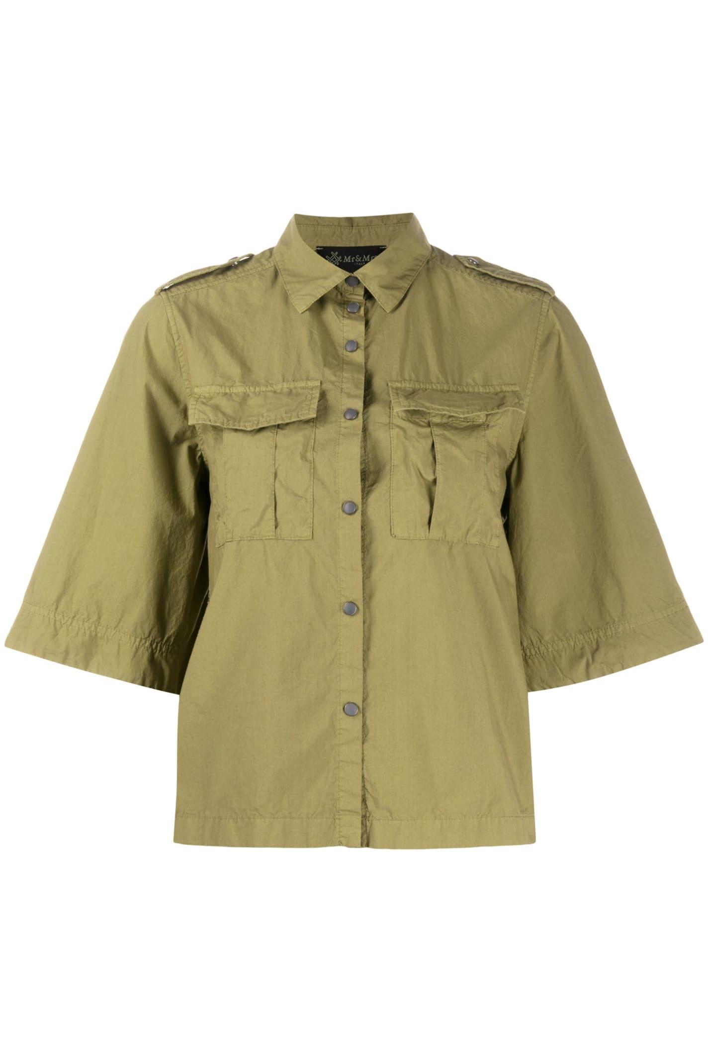 Mr & Mrs Italy Light Cotton Popeline Shirt For Woman