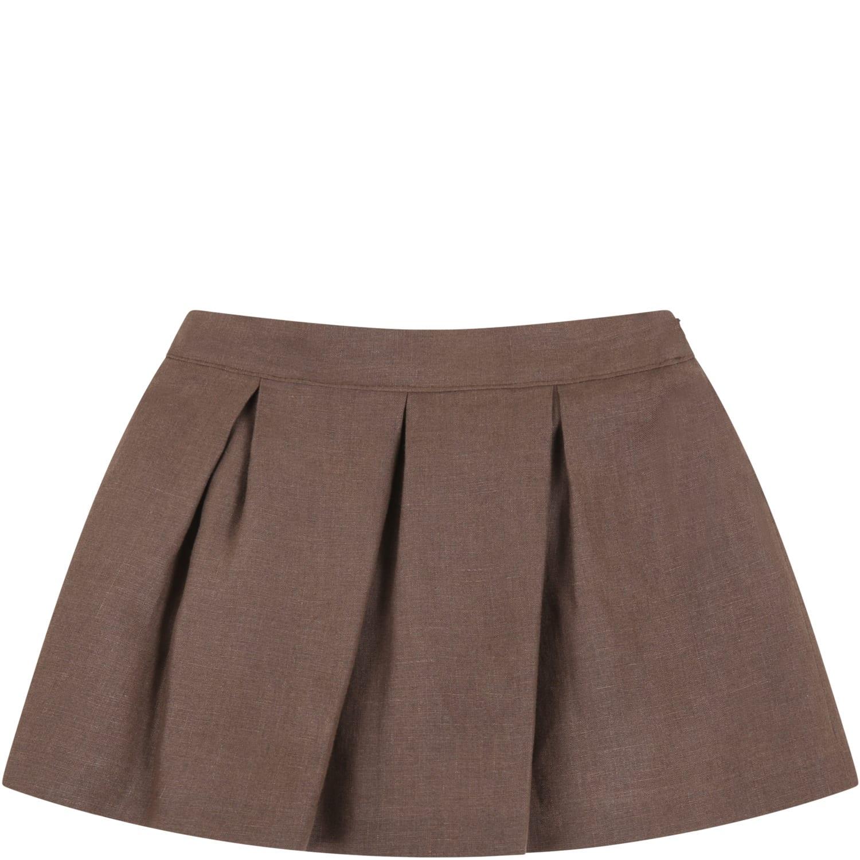 Little Bear Brown Skirt For Baby Girl