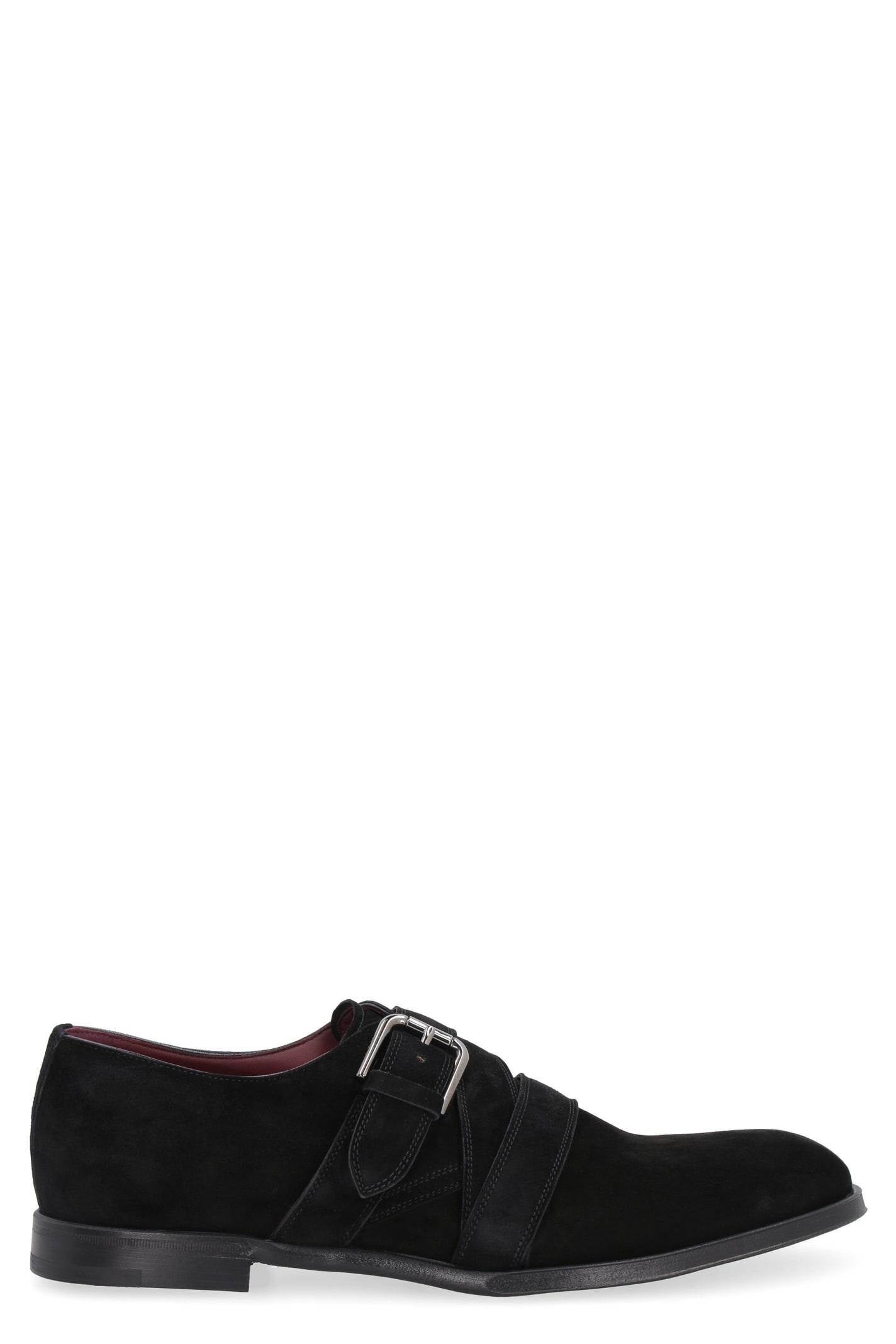 Dolce & Gabbana Suede Monk-strap Shoes