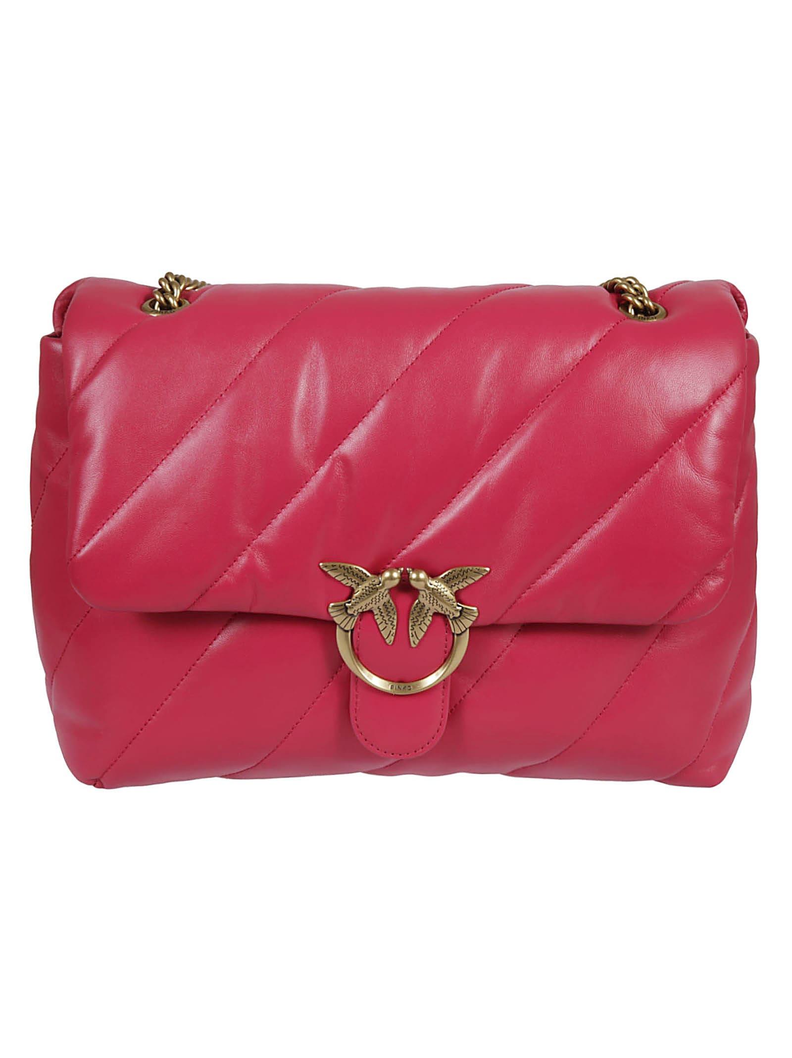 Pinko Love Big Puff Maxi Quilt Shoulder Bag