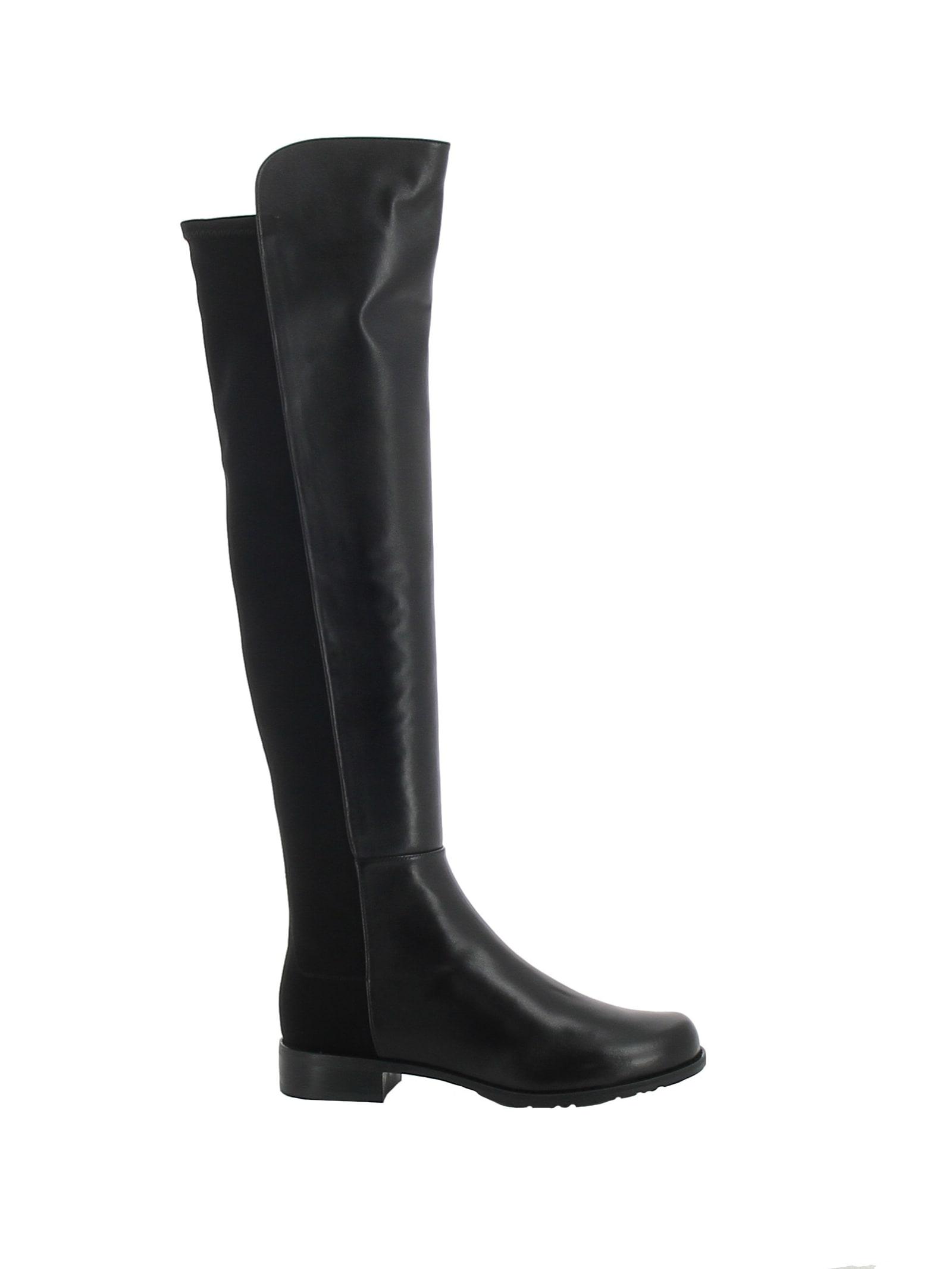 Stuart Weitzman S3999 Black Leather 5050 Boots