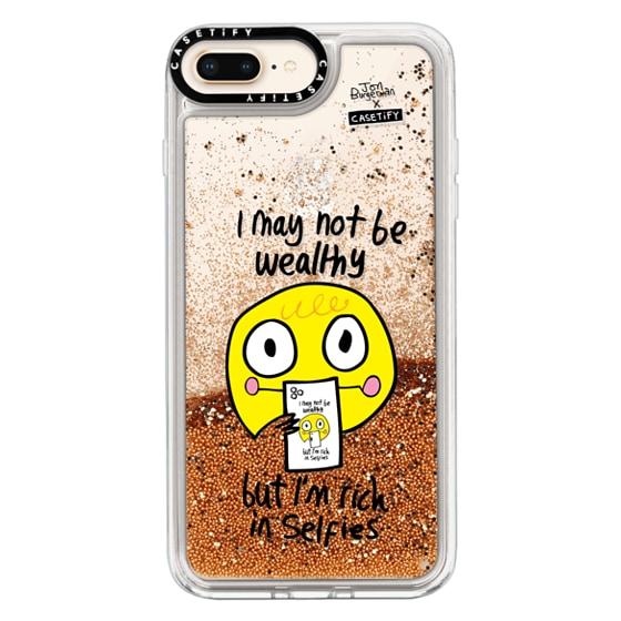 CASETiFY iPhone 8 Plus Glitter Case - Selfies by Jon Burgerman