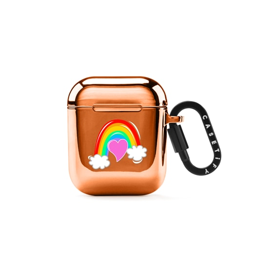 CASETiFY AirPods Case Mirror Airpod Case - Ice Ice Rainbow