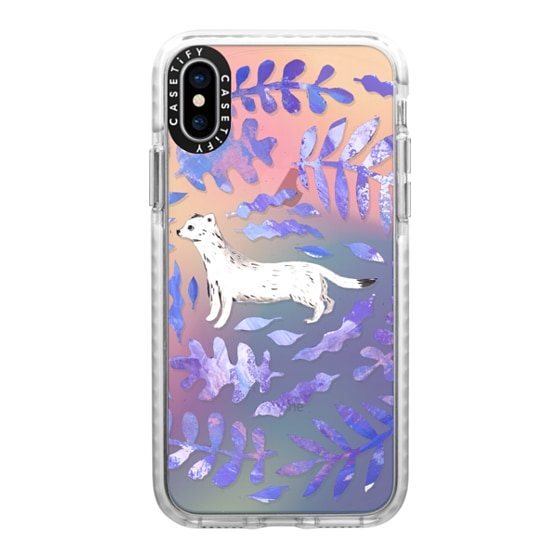 CASETiFY iPhone X Impact Case - Ermine Abstract Florals