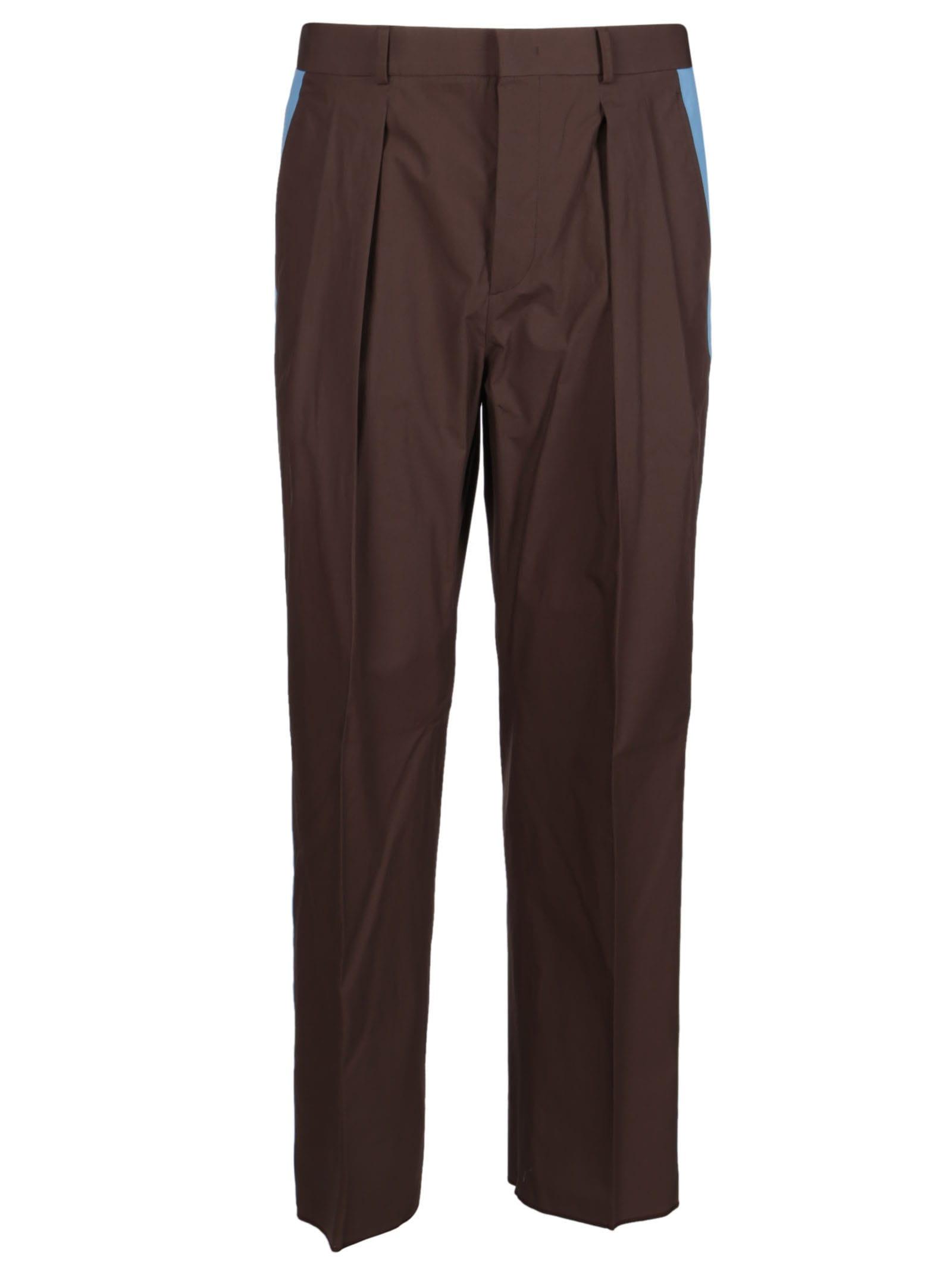 Valentino Brown Cotton Trousers