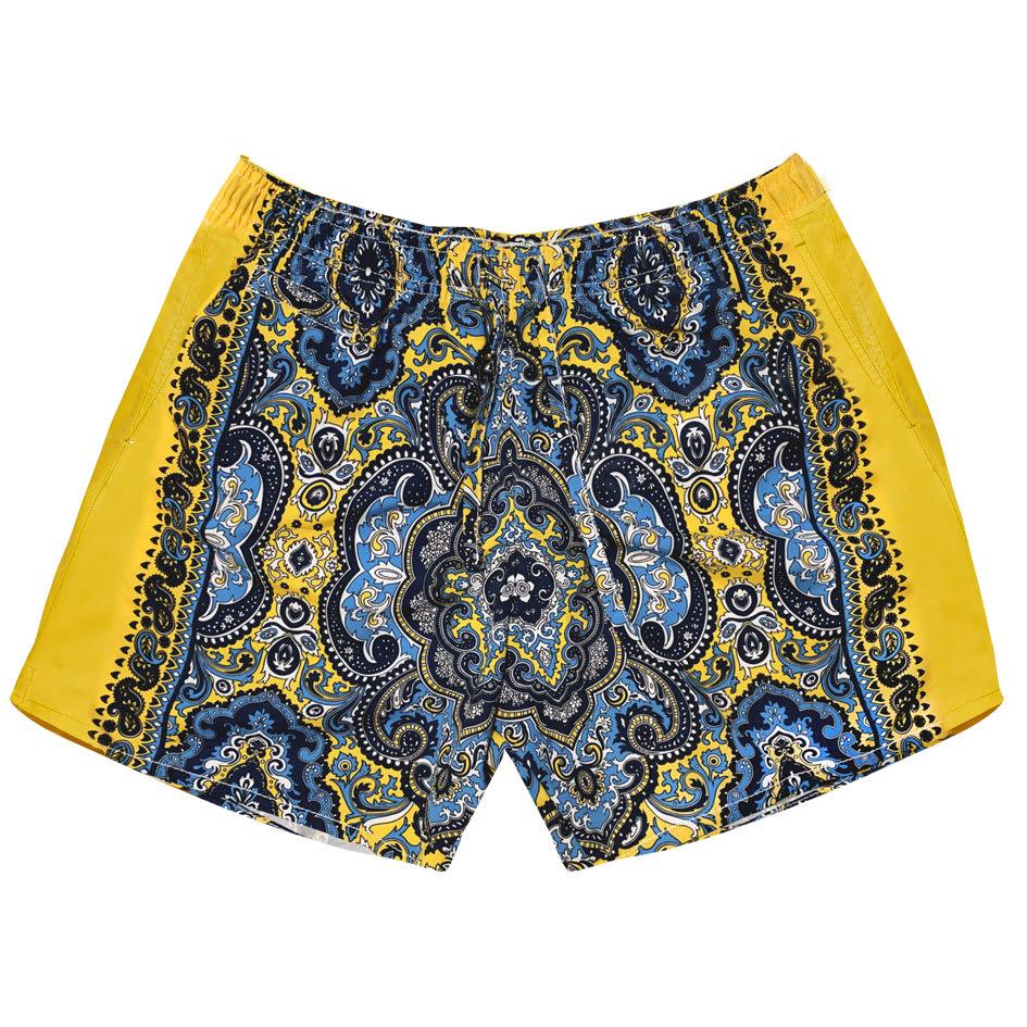 MC2 Saint Barth Yellow Paisley Man Swim Shorts
