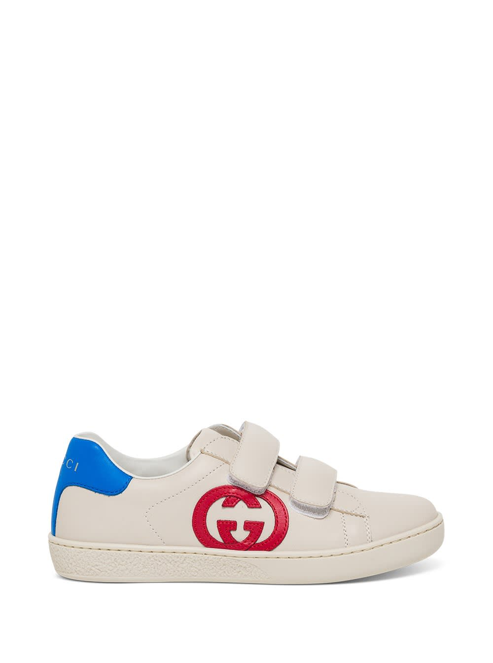 Gucci Ace Leather Sneakers With Logo