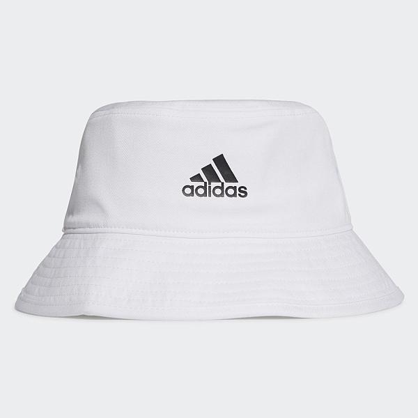 Adidas COTTON BUCKET 帽子 漁夫帽 流行 休閒 刺繡 白【運動世界】H36811