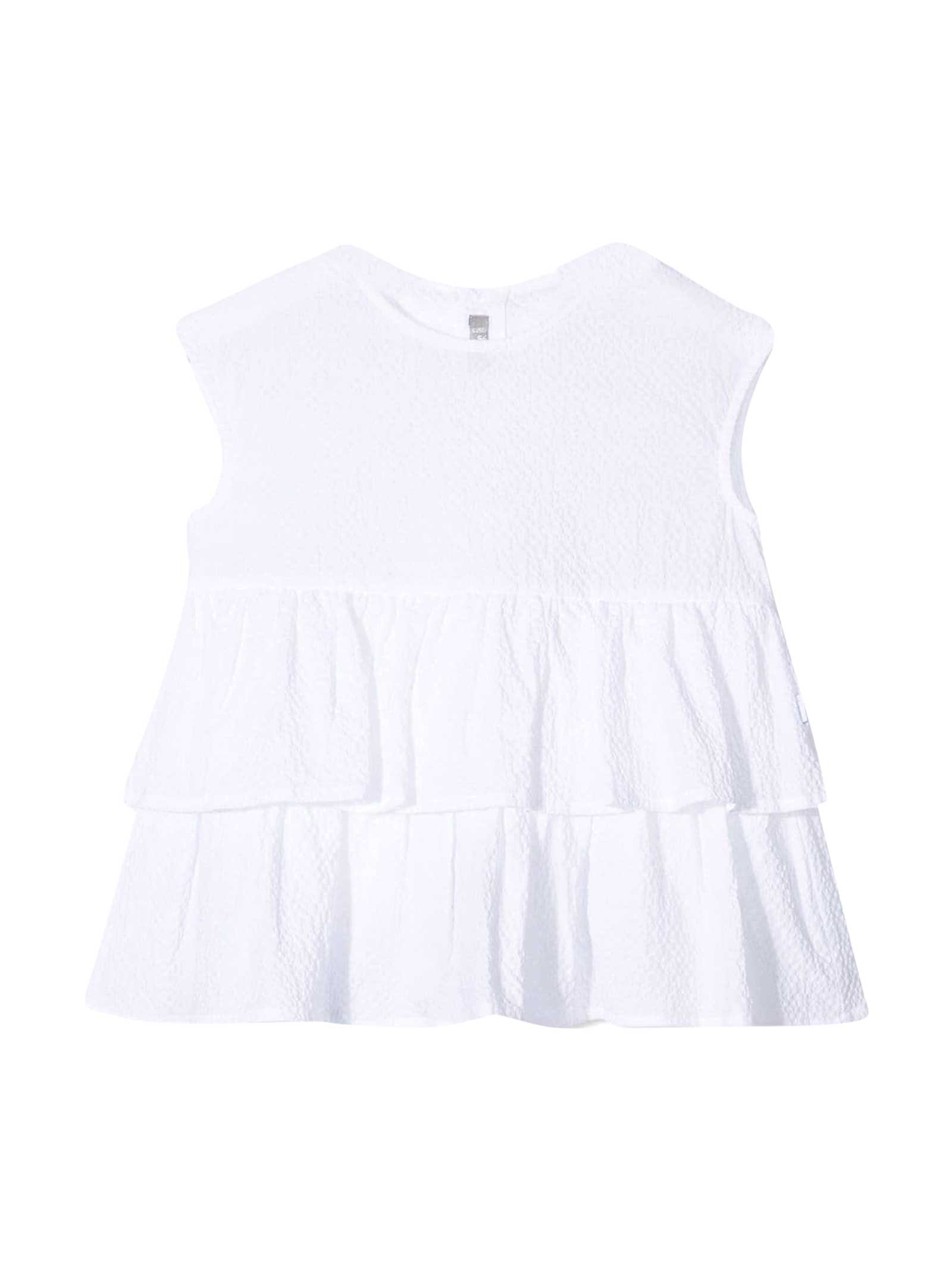 Il Gufo Sleeveless Blouse With Ruches