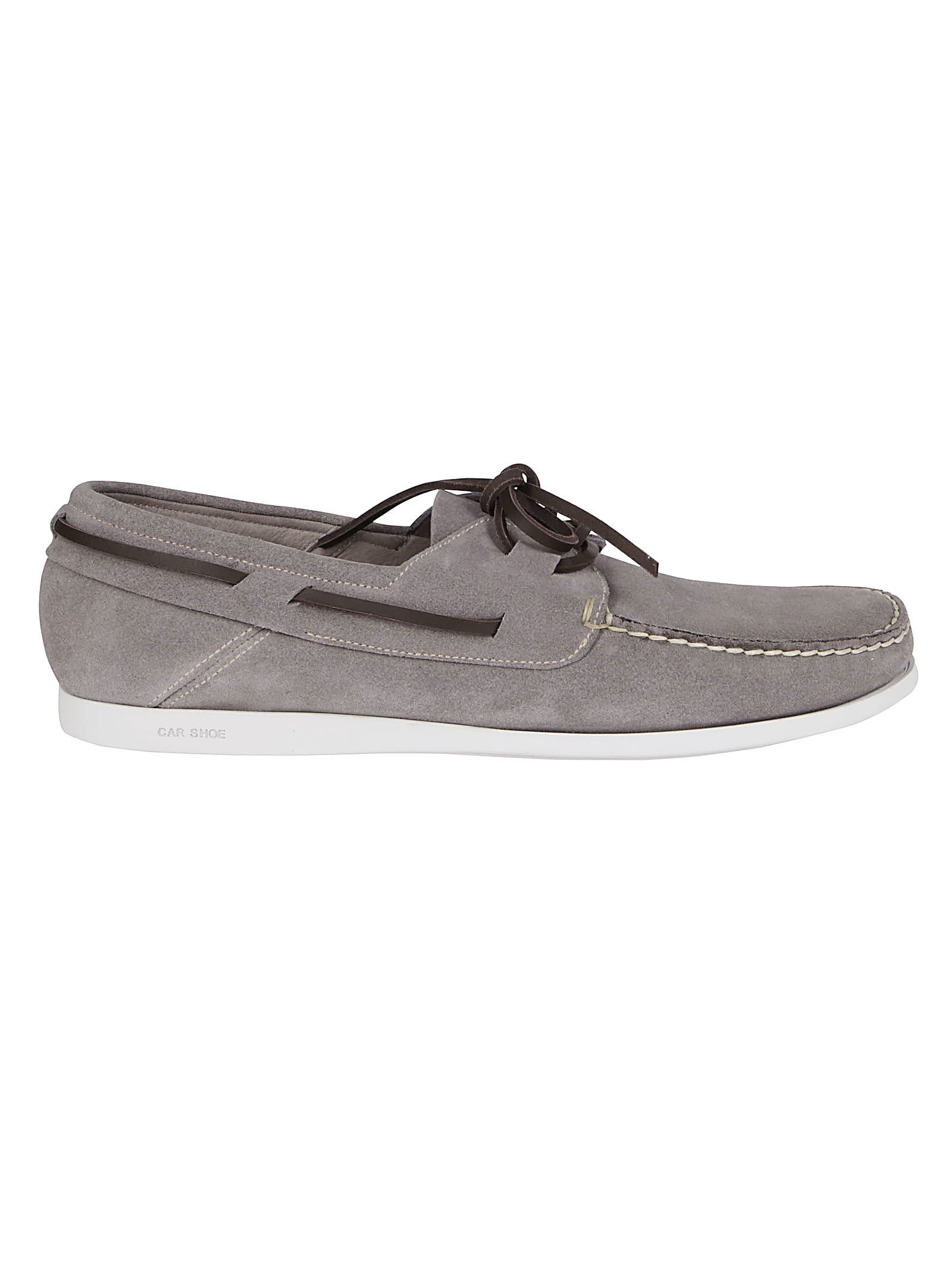 Car Shoe Grey Leather Loafers