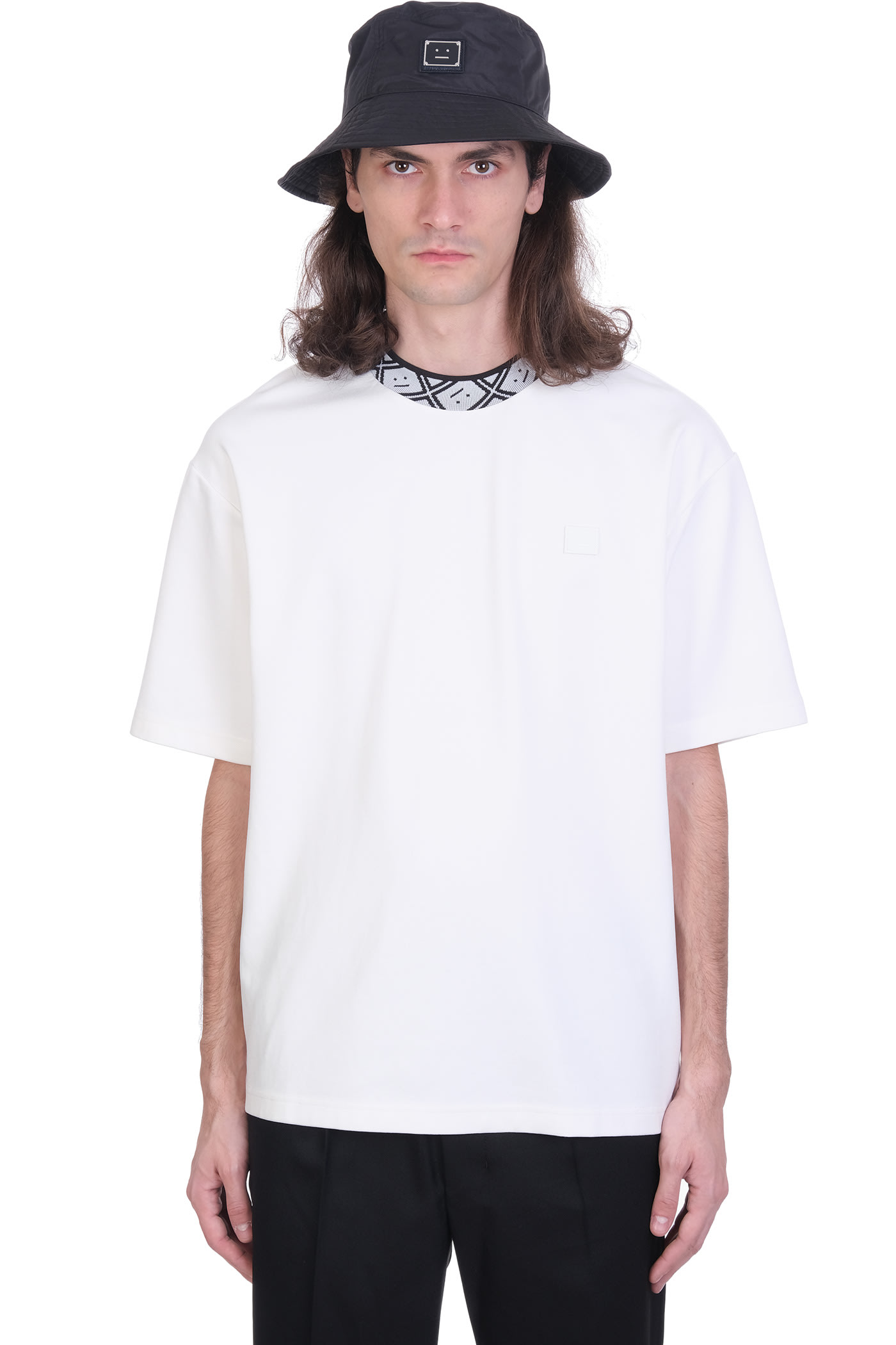 Acne Studios T-shirt In White Cotton