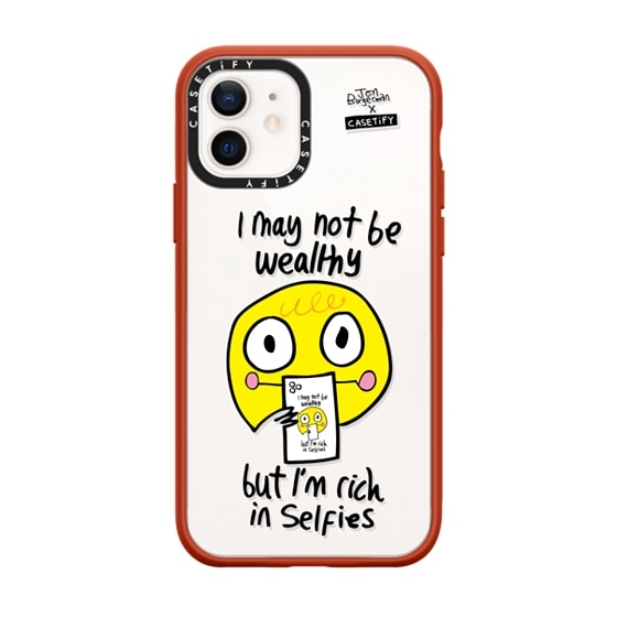 CASETiFY iPhone 12 Impact Case - Selfies by Jon Burgerman